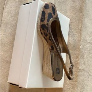 Anne Klein Leopard Wedges